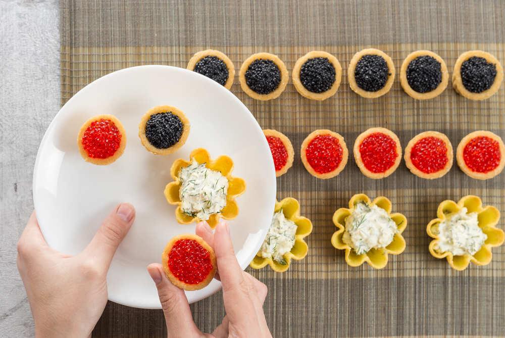 Caviar, un manjar en el mundo de los eventos